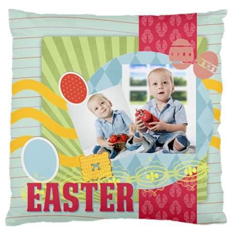 Easter By Easter   Large Flano Cushion Case (one Side)   Mkvihz2yylgz   Www Artscow Com Front