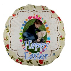 Eastet By Easter   Large 18  Premium Flano Round Cushion    Czzsduvfkz0n   Www Artscow Com Front