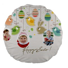Eastet By Easter   Large 18  Premium Flano Round Cushion    Onmmfa1f366z   Www Artscow Com Front