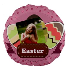 Eastet By Easter   Large 18  Premium Flano Round Cushion    3u20y847oue6   Www Artscow Com Front