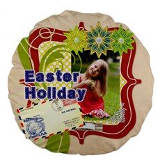 Eastet By Easter   Large 18  Premium Flano Round Cushion    Nn6hr816merf   Www Artscow Com Back