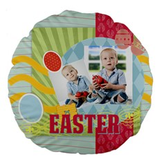 Easter By Easter   Large 18  Premium Flano Round Cushion    C6w5s08alngz   Www Artscow Com Back
