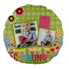 Easter By Easter   Large 18  Premium Flano Round Cushion    J8ir6e1b75o6   Www Artscow Com Front