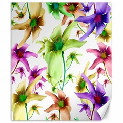 Multicolored Floral Print Pattern Canvas 20  X 24  (unframed) by dflcprints