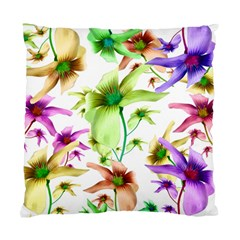 Multicolored Floral Print Pattern Cushion Case (single Sided)  by dflcprints