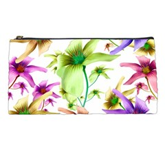 Multicolored Floral Print Pattern Pencil Case by dflcprints