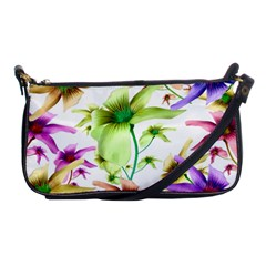 Multicolored Floral Print Pattern Evening Bag by dflcprints