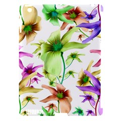 Multicolored Floral Print Pattern Apple Ipad 3/4 Hardshell Case (compatible With Smart Cover) by dflcprints