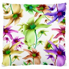 Multicolored Floral Print Pattern Large Cushion Case (two Sided)  by dflcprints