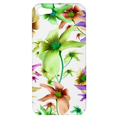 Multicolored Floral Print Pattern Apple Iphone 5 Hardshell Case by dflcprints