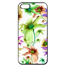 Multicolored Floral Print Pattern Apple Iphone 5 Seamless Case (black) by dflcprints