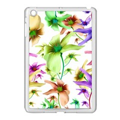 Multicolored Floral Print Pattern Apple Ipad Mini Case (white) by dflcprints