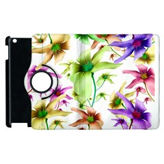 Multicolored Floral Print Pattern Apple Ipad 2 Flip 360 Case by dflcprints