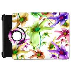 Multicolored Floral Print Pattern Kindle Fire Hd Flip 360 Case by dflcprints