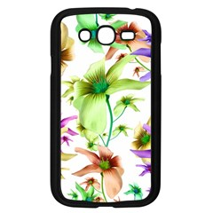 Multicolored Floral Print Pattern Samsung Galaxy Grand Duos I9082 Case (black) by dflcprints