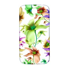 Multicolored Floral Print Pattern Samsung Galaxy S4 I9500/i9505  Hardshell Back Case by dflcprints