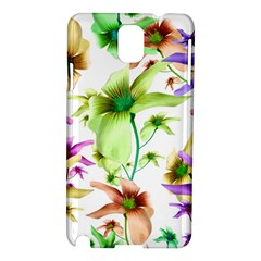 Multicolored Floral Print Pattern Samsung Galaxy Note 3 N9005 Hardshell Case by dflcprints