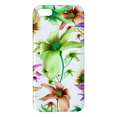Multicolored Floral Print Pattern Iphone 5s Premium Hardshell Case by dflcprints