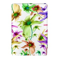 Multicolored Floral Print Pattern Samsung Galaxy Tab Pro 10 1 Hardshell Case by dflcprints