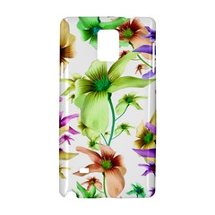 Multicolored Floral Print Pattern Samsung Galaxy Note 4 Hardshell Case by dflcprints