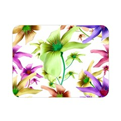 Multicolored Floral Print Pattern Double Sided Flano Blanket (mini) by dflcprints