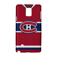 Montreal Canadiens Jersey Style  Samsung Galaxy Note 4 Hardshell Case by blueshirtdesigns