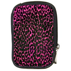 Hot Pink Leopard Print  Compact Camera Leather Case by OCDesignss