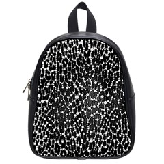 Black&white Leopard Print  School Bag (small) by OCDesignss