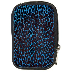 Florescent Leopard Print  Compact Camera Leather Case by OCDesignss