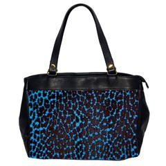 Florescent Leopard Print  Oversize Office Handbag (two Sides) by OCDesignss