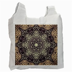 Crazy Beautiful Abstract  White Reusable Bag (one Side) by OCDesignss