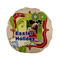 Easter By Easter   Standard 15  Premium Flano Round Cushion    Fkrh6dk304om   Www Artscow Com Back