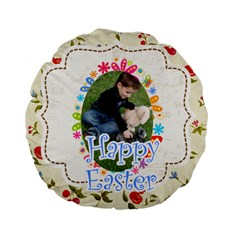 Easter By Easter   Standard 15  Premium Flano Round Cushion    9kqyww55lpqa   Www Artscow Com Back
