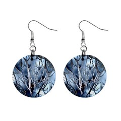 Abstract Of Frozen Bush Mini Button Earrings