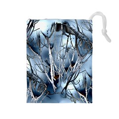 Abstract Of Frozen Bush Drawstring Pouch (large)