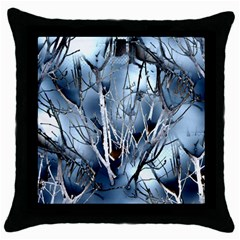 Abstract Of Frozen Bush Black Throw Pillow Case by canvasngiftshop