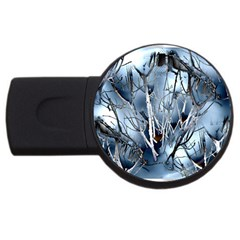 Abstract Of Frozen Bush 4gb Usb Flash Drive (round) by canvasngiftshop