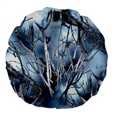 Abstract Of Frozen Bush 18  Premium Round Cushion  by canvasngiftshop