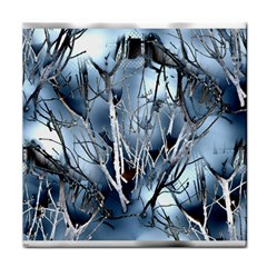 Abstract Of Frozen Bush Ceramic Tile by canvasngiftshop