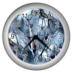 Abstract Of Frozen Bush Wall Clock (silver) by canvasngiftshop