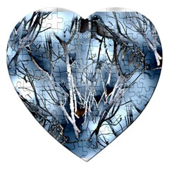Abstract Of Frozen Bush Jigsaw Puzzle (heart)