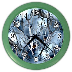 Abstract Of Frozen Bush Wall Clock (color) by canvasngiftshop