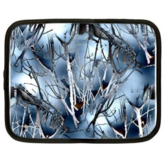 Abstract Of Frozen Bush Netbook Sleeve (xl) by canvasngiftshop