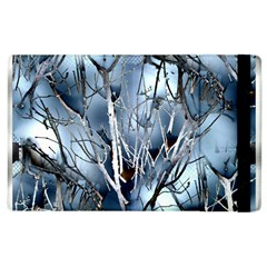 Abstract Of Frozen Bush Apple Ipad 2 Flip Case