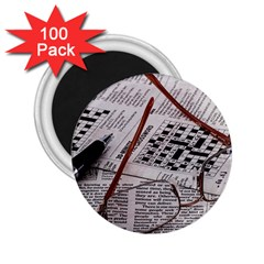 Crossword Genius 2 25  Button Magnet (100 Pack) by StuffOrSomething