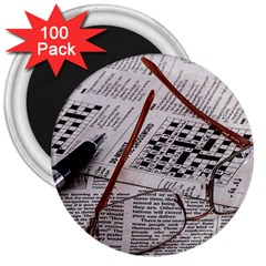 Crossword Genius 3  Button Magnet (100 Pack) by StuffOrSomething