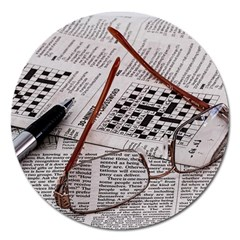 Crossword Genius Magnet 5  (round) by StuffOrSomething