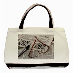 Crossword Genius Twin Sided Black Tote Bag by StuffOrSomething