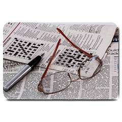 Crossword Genius Large Door Mat by StuffOrSomething