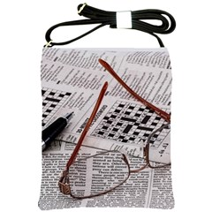 Crossword Genius Shoulder Sling Bag by StuffOrSomething